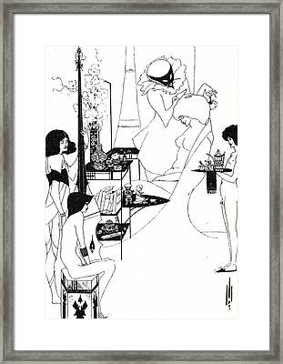 The Toilette Of Salome Framed Print by Aubrey Beardsley