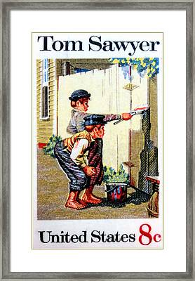 The Tom Sawyer Stamp Framed Print by Lanjee Chee