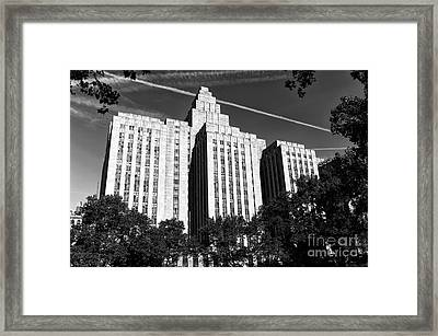 The Tombs Mono Framed Print by John Rizzuto