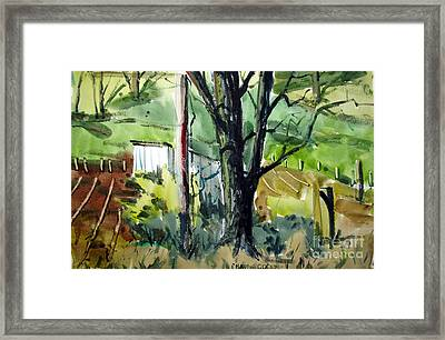 The Tool Shed By The Black Ash Matted Framed Glassed Framed Print