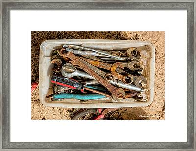 Framed Print featuring the photograph The Toolbox by Christopher Holmes