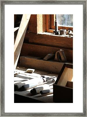 Framed Print featuring the photograph The Tools by Laddie Halupa