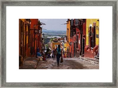 The Top Of Calle Umaran Framed Print by John  Kolenberg