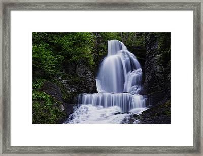 The Top Of Dingmans Falls Framed Print by Rick Berk