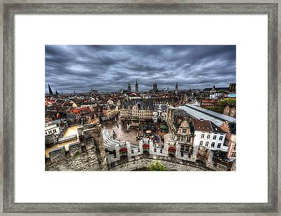 Framed Print featuring the photograph The Top Of Ghent by Shawn Everhart