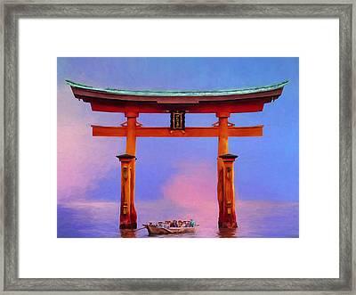 The Torii Gate Framed Print