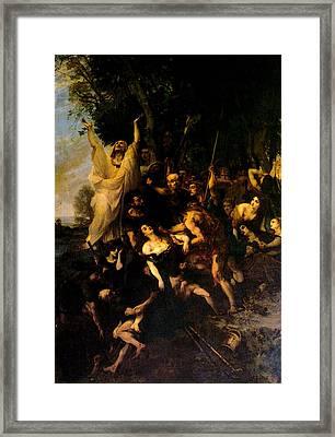 The Torment Of Vestale Framed Print