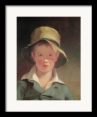 Portrait Of A Young Boy Framed Prints