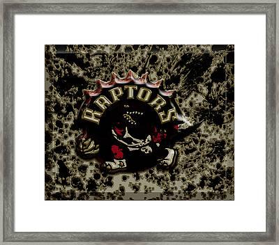The Toronto Raptors 1a Framed Print