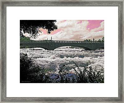 The Torrent Above Niagara Framed Print by Garth Glazier