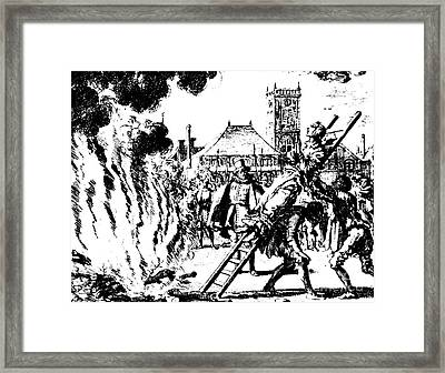 The Torture Of A Witch, Anne Hendricks, In Amsterdam In 1571 Framed Print