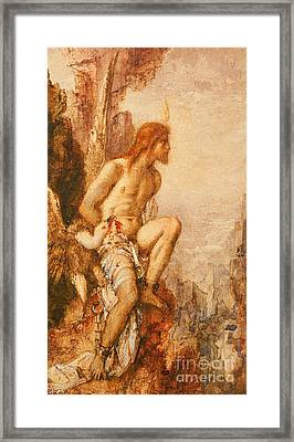 The Torture Of Prometheus Framed Print by Gustave Moreau