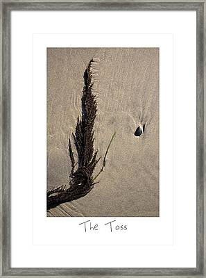 The Toss Framed Print by Peter Tellone