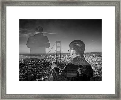 The Tourists - Golden Gate Bridge Framed Print
