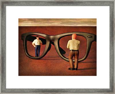 The Tourists Framed Print