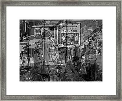 The Tourists - Pier 39 Framed Print
