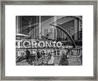 The Tourists - Toronto Framed Print