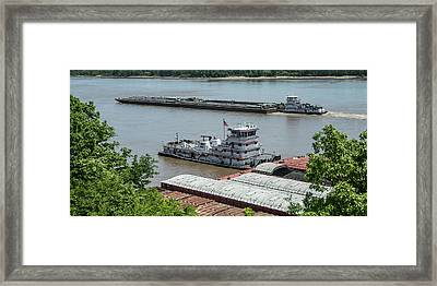 The Towboat Buckeye State Framed Print by Garry McMichael