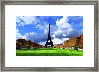 Framed Print featuring the painting The Tower Paris by David Dehner