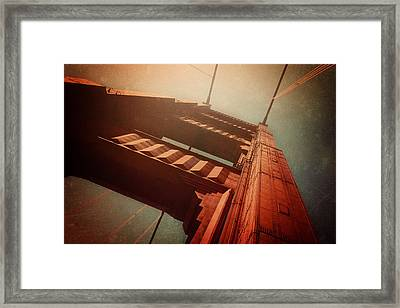 The Towering Golden Gate Framed Print by Carol Japp
