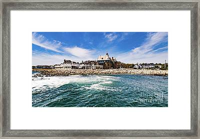 The Towers Of Narragansett  Framed Print