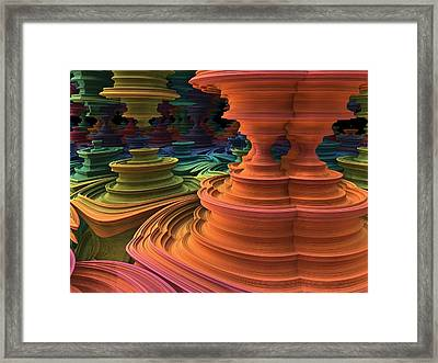 Framed Print featuring the digital art The Towers Of Zebkar by Lyle Hatch