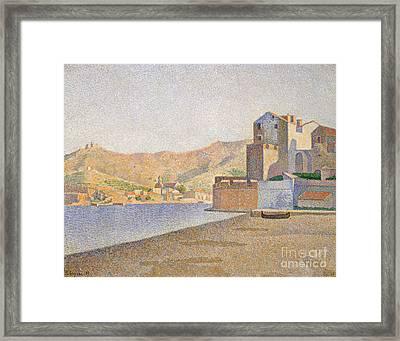 The Town Beach, Collioure Framed Print