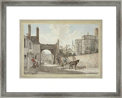 The Town Gate Looking Westwards Down Castle Hill Framed Print