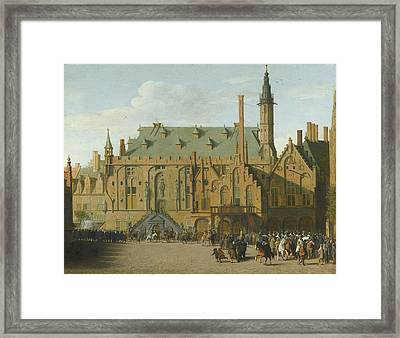 The Town Hall At Haarlem With The Entry Of Prince Maurits To Replace The Governers Framed Print by MotionAge Designs