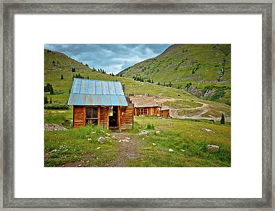 The Town Of Animas Forks Framed Print