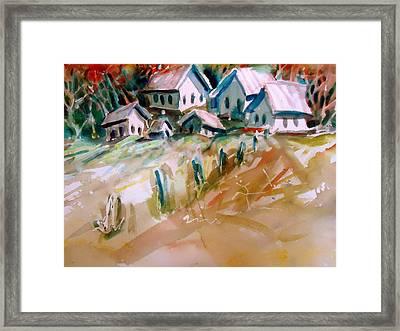 The Town On Shaky Ground Framed Print by Steven Holder