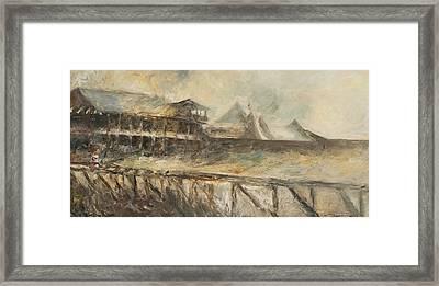 The Track At Saratoga Framed Print by Francine Stuart
