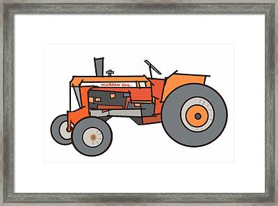 The Tractor Framed Print by Denny Casto