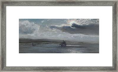The Traeth Mawr, Moonlight Framed Print by Henry Moore