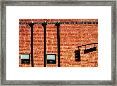 The Traffic Light Intruder Framed Print