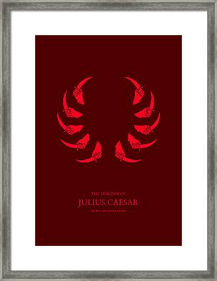 The Tragedy Of Julius Caesar Framed Print by Nicholas Ely