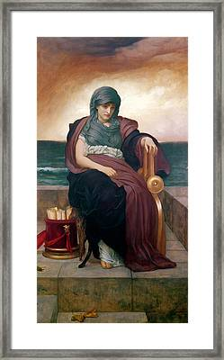 The Tragic Poetess Framed Print by Frederic Leighton
