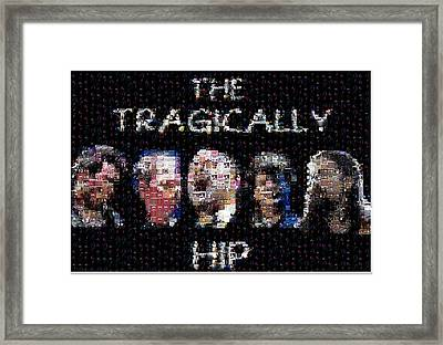 The Tragically Hip Mosaic Framed Print by Paul Van Scott