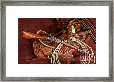 The Trail Boss Framed Print