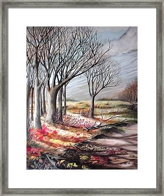 The Trail - Le Chemin Framed Print