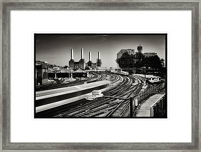 The Train And Battersea Power Station Framed Print