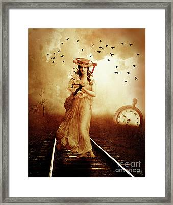 The Train Never Came Framed Print by KaFra Art