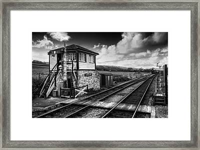 The Train Now Departing Framed Print