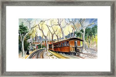 The Train Station In Soller In Majorca Framed Print