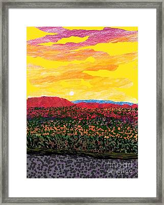 The Train To Palmdale  Framed Print by Ishy Christine Degyansky