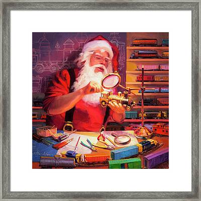 The Trainmaster Framed Print