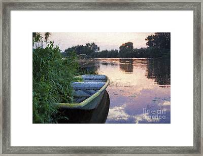 The Tranquil Elbe Framed Print by Diane Macdonald