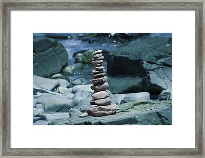 The Tranquil Zen Zone Framed Print by Betsy Knapp