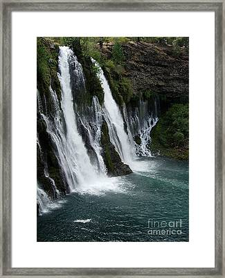 The Tranquility Of Waterfalls Framed Print by Stephanie  H Johnson