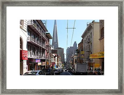 The Transamerica Pyramid Through Chinatown San Francisco Framed Print by Wingsdomain Art and Photography